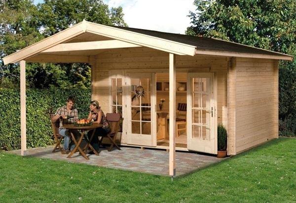 Weka Gartenhaus 137 Gr. 1 Vordach 200 cm